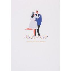 "Carte mariés ""Happily ever after"""