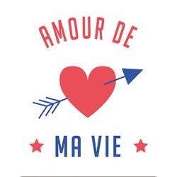 "Carte ""Amour de ma vie"""