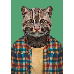 Carte Zoo - chat sauvage