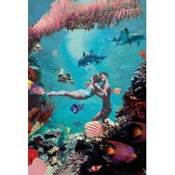 Carte vintage - Couple mer