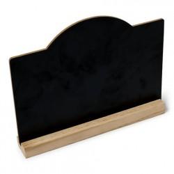 Ardoise sur socle en bois