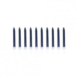 10 bougies pailletées - Navy