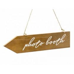 1 flèche en bois photobooth