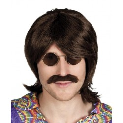 Perruque Gary avec moustache