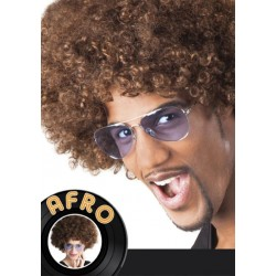 Perruque Afro brun