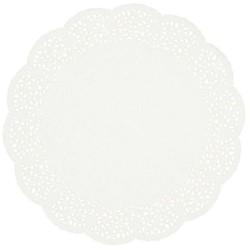 12 Napperons papier - blanc