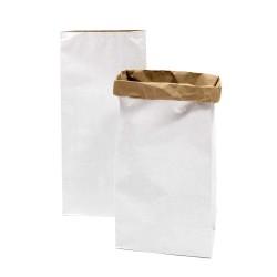 Sac en papier L - blanc et kraft