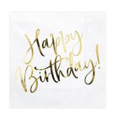20 serviettes Happy Birthday