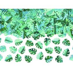 Confettis - Feuille de monstera vert