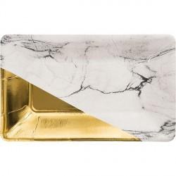 8 Petits plateaux apéro - marbre et or