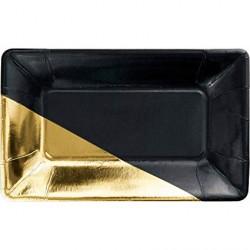 8 Petits plateaux apéro - noir et or