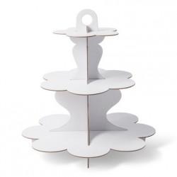 1 présentoir 3 étages en carton blanc 34 cm