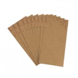 10 cartes de voeux pour les mariés kraft et bronze