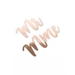 Suspension Mr et Mme rose gold