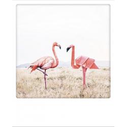 Carte pola flamingo paar