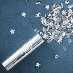 Canon à confettis - étoile argent