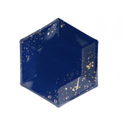 6 Assiettes - bleu et or