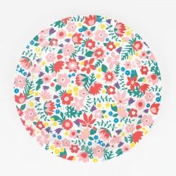 8 assiettes - Fleurs