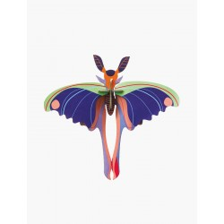 Décoration murale -  Papillon comète bleue