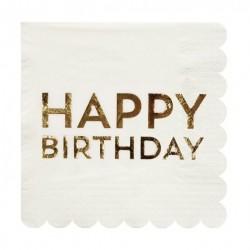16 serviettes - Happy Birthday