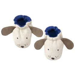 1 paire de chaussons petit chien