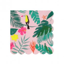 20 petites serviettes - Tropical