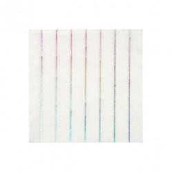 16 petites serviettes - ligne holographique