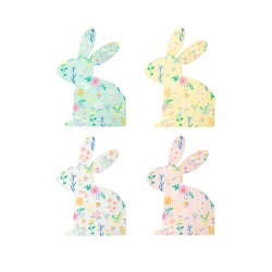 20 serviettes - lapin fleuri