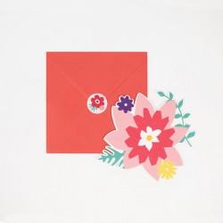 8 invitations - Fleurs