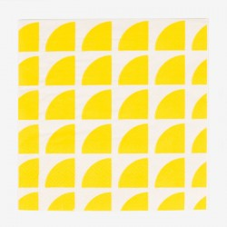 20 serviettes - triangles citron