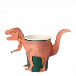 8 gobelets - T-Rex