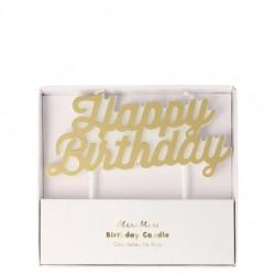 "Bougie "" Happy Birthday"" - or"