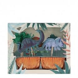 Kit 24 cupcakes - Royaume des dinosaures