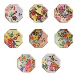 8 petites assiettes - Flora (8 motifs)