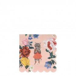 20 petites serviettes - Flora Cat