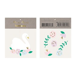 2 Tattoos - Cygne fleuri