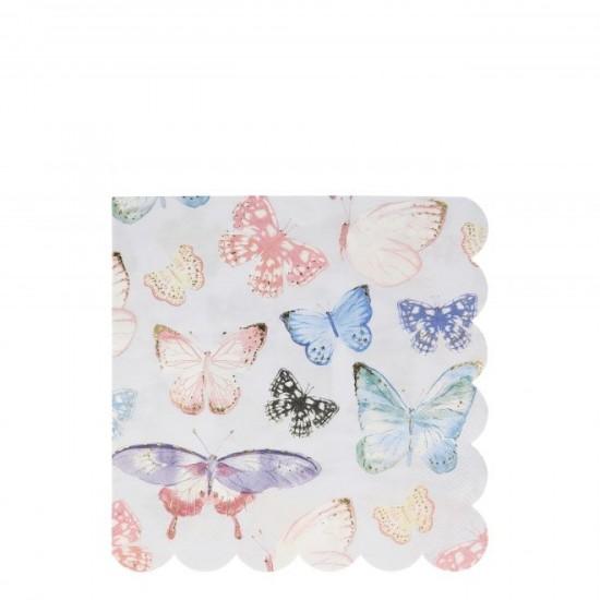 16 serviettes - Papillons