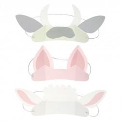 8 couronnes - animaux de la ferme (3 designs)