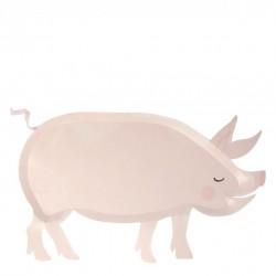 12 assiettes - Cochon