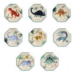8 petites assiettes - Royaume des dinosaures (8 designs)