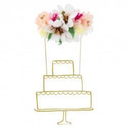 Cake topper - Bouquet de fleurs