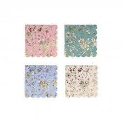 16 serviettes - Jardin anglais (4 coloris)