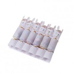 6 crackers - Lapinou fleurs confettis