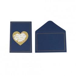 5 cartes à gratter et enveloppes - Marine