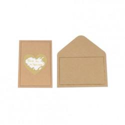 5 cartes à gratter et enveloppes - Kraft