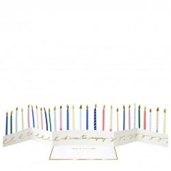 Carte décor - Bougies