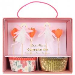 Kit cupcake - fées et fleurs
