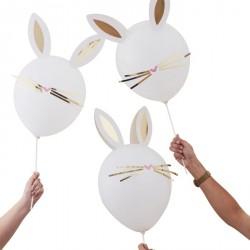 5 ballons DIY - Lapin