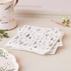 16 petites serviettes - végétal