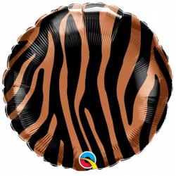 Ballon aluminium - imprimé tigre